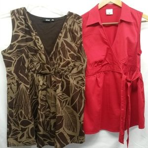 Lot of two Maternity Tops